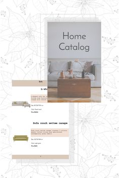 Organize all the necessary info about your furniture products with this minimal catalog template. You can quickly and easily add your logo, photos, product description, contact information, and many more. All Catalog Machine templates are fully customizable and absolutely free. You can also create both digital and PDF catalogs at the same time. Click the link to design your home catalog! Wood Prices, Home Catalogue, Product Catalog, L Shaped Sofa, Furniture Catalog, Design Your Home, Green Fabric, Sofa Set, Light Colors