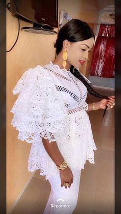 """10 Photos – Gamou 2018 : le premier """"Sagnsé"""" de Mbathio Ndiaye African Attire, African Wear, African Women, African Dress, African Lace Styles, Mode Abaya, Elie Saab Couture, African Models, Latest African Fashion Dresses"""