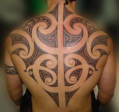 Maori back tattoo - 70  Awesome Tribal Tattoo Designs  <3 <3