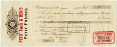 Old Design Shop ~ free digital image: vintage French cheque