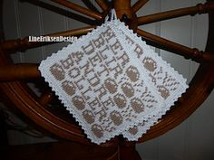 Ravelry: Her blir det andre boller pattern by Line Eriksen Pot Holders, Ravelry, Knitting Patterns, Knit Crochet, Diy And Crafts, Barn, How To Make, Kitchen Stuff, Aprons