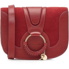 See by Chloé Shoulder Bag (6.885 ARS) ❤ liked on Polyvore featuring bags, handbags, shoulder bags, red, genuine leather handbags, genuine leather purse, red leather shoulder bag, shoulder hand bags and red purse