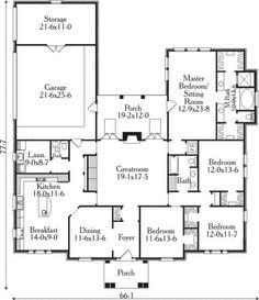 Image result for bungalow floor plans with 2 master suites and 4 bed rooms