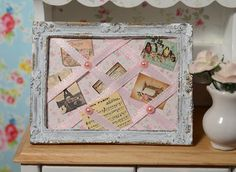 Miniature French Memory Board by CuteinMiniature on Etsy, $21.99