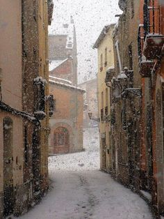 Snowy Day, Barcelona, Spain photo via mva The Places Youll Go, Places To See, Beautiful World, Beautiful Places, Amazing Places, Snowy Day, Spain And Portugal, Winter Scenes, Historical Sites