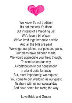 wedding gift poems money - Google Search