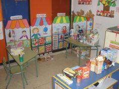 LA TIENDA DE MI BARRIO Las actividades realizadas en el aula han sido las siguientes: 1 Empezamos enseñando a los niños una pirámide...