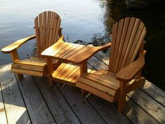 Muskoka double chair built by my carpenter bf