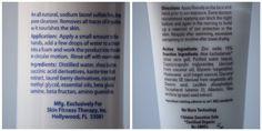 Skin Care Tip of the Week *Ingredients to avoid*