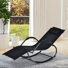 Outsunny Zero-Gravity Ergonomically Design Lounger Rocker for Indoor or Outdoor Use, UV/Water Fighting Material (Black)(Fabric), Outdoor Seating Outdoor Areas, Outdoor Seating, Outdoor Chairs, Outdoor Furniture, Outdoor Decor, Outdoor Living, Garden Loungers, Reclining Sun Lounger, Patio Rocking Chairs