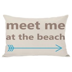 At the Beach Pillow.