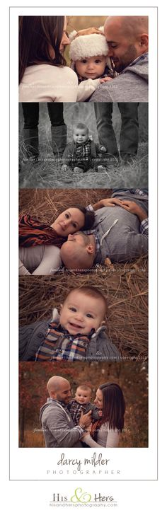 6 month old baby / family portraits | Iowa photographer, Darcy Milder | His & Hers I want pics like these