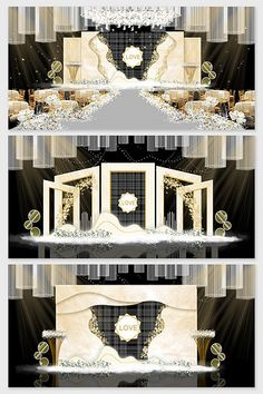 High-end champagne golden wedding effect picture & Models Decor Wedding Stage Backdrop, Wedding Stage Design, Wedding Stage Decorations, Backdrop Decorations, Backdrops, Flower Decorations, Grid Background, Wedding Background, Crystal Wedding Decor