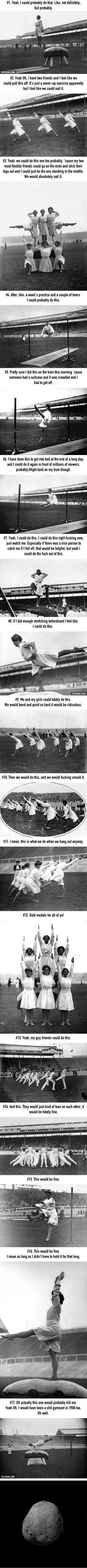 """17 Olympic Gymnasts From 1908 Who Will Make You Say """"Yeah, I Could Probably Do That"""" - 9GAG"""