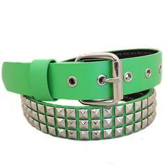 Studded Kelly Green Belt
