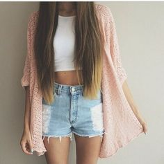 Pin by ella pinkney on my style outfit ideen, sommer kleidung, teenager out New Teen Fashion, Teen Fashion Outfits, Look Fashion, Fashion Hair, Denim Fashion, Girl Outfits, Junior Fashion, Fall Fashion, Ladies Fashion