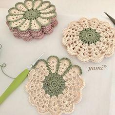 63 Ideas For Crochet Free Pattern Granny Square Haken patrones Crochet Coaster Pattern, Crochet Motifs, Crochet Flower Patterns, Doily Patterns, Crochet Squares, Crochet Doilies, Crochet Flowers, Knitting Patterns, Doilies Crafts