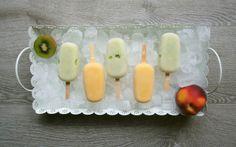Eis am Stiel - kiwi und pfirsich