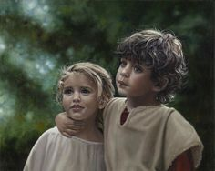 Jesus Once was a Little Child by LDS/Mormon artist, Liz Lemon Swindle .. I love this woman!
