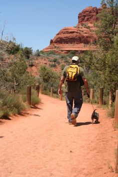 Places to Hike with your Dog - American Hiking Society Link that takes you to each state's recommended trails. Arizona, California, Colorado, Georgia, New Mexico, New York, Pennsylvania, Utah and Washington DC