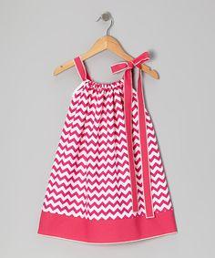 Fuchsia Zigzag Swing Dress