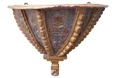 "19th-C. Painted and Parcel Gilt Console Italy 32""L x 17""W x 28""H ($6,800.00)  $3,695.00 One Kings Lane"