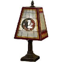 Florida State University Seminoles NCAA 14 inch Art Glass Table Lamp NEW FREE SHIPPING