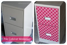 A Little Tipsy: File Cabinet Makeover