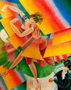 The Dancer, 1915. Gino Severini (1883-1966). The dance was one of Gino Severini's favourite themes, and was emotively tied to the café life in Paris, where dance halls and cabarets were numerous and much frequented by artists and writers.