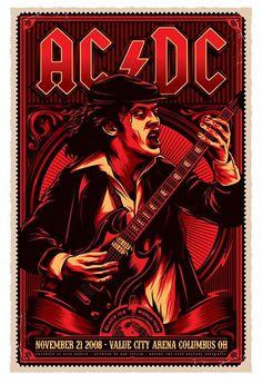 AC/DC - Ohio 2008 - Mini Print
