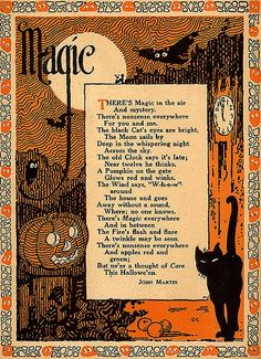 """magic"" poem - love the line-illustration bat up top."