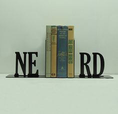 Nerd Bookends, for our bookcase just for Nik, since he is quite a nerd of course (;