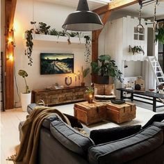 Outstanding small living room designs are offered on our site. Home Living Room, Living Room Designs, Living Room Decor, Modern Living Rooms, Earthy Living Room, Cozy Living, Modern Room, Living Room Inspiration, Cool Living Room Ideas