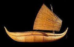 Peruvian Indian sailboat