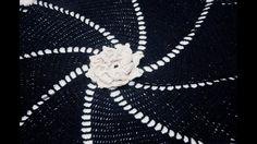 Tapete de crochê em barbante Estrela 8 Pontas