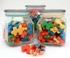 autism puzzle piece cookies
