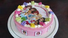 Lego Friends taart