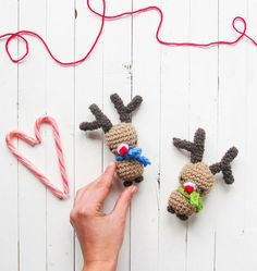 Little Things Blogged: Amigurumi Rudolph Christmas Pattern