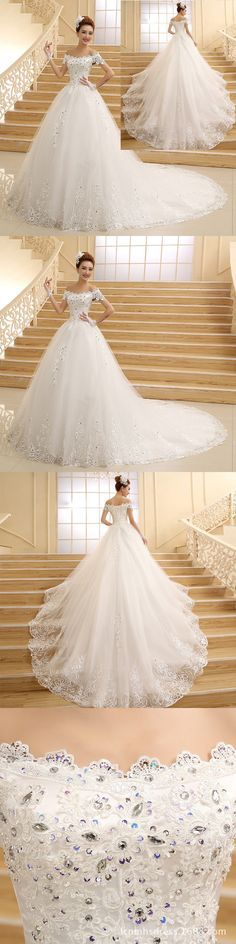 Wedding Dresses: New White/Ivory Lace Wedding Dress Ball Gown Bridal Gowns Size 2+4+6+8+10+12+14+ -> BUY IT NOW ONLY: $129.99 on eBay!