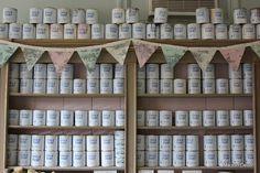 Dye fabric using Annie Sloan Chalk Paint and create your own bunting