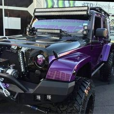 Black and purple Jeep. Pinterest: pearlxoxoxo