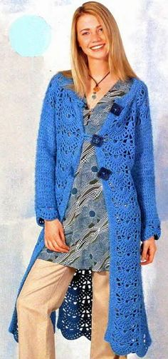 Crochet by Jane: MORE LONG COATS - MAIS CASACOS LONGOS