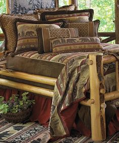 Bear Chenille Luxury Lodge Bedding