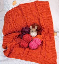 knit blanket by phildar