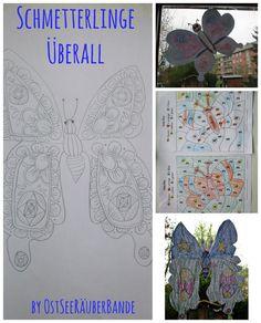 Schmetterlinge überall - im Garten, am Fenster und bei den Mal- und Bastelsachen - Ostseeraeuberbande Familienblog