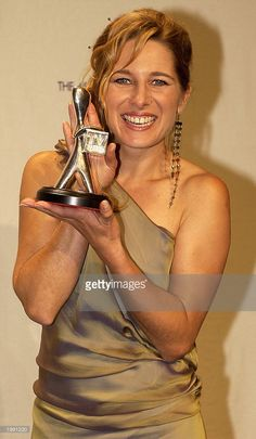 Silver Logie winner Actress Libby Tanner for Most Popular Actress in 'All Saints' poses at the Australian TV Week Logie Awards May 11, 2003 in Melbourne, Australia.