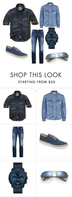 """""""Untitled #6"""" by aslekavennala ❤ liked on Polyvore featuring Hollister Co., Acne Studios, Jack & Jones, Original Penguin, Movado, Ray-Ban, men's fashion and menswear"""