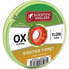 Make sure the big one doesn't get away by outfitting your rig with the Scientific Anglers Tri-Color Sighter Tippet. Alternating high-contrast colors help you keep a close eye on it when your fly's drifting through riffles and lets you know the second a strike happens.