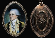 Miniature of George Washington, wearing an Order of the Cincinnati medal.