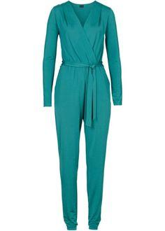 Bonprix longsleeve jumpsuit green